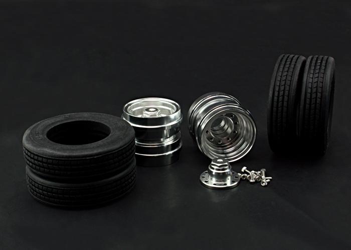 1 14 tieflader aluradsatz rs modellbau shop. Black Bedroom Furniture Sets. Home Design Ideas