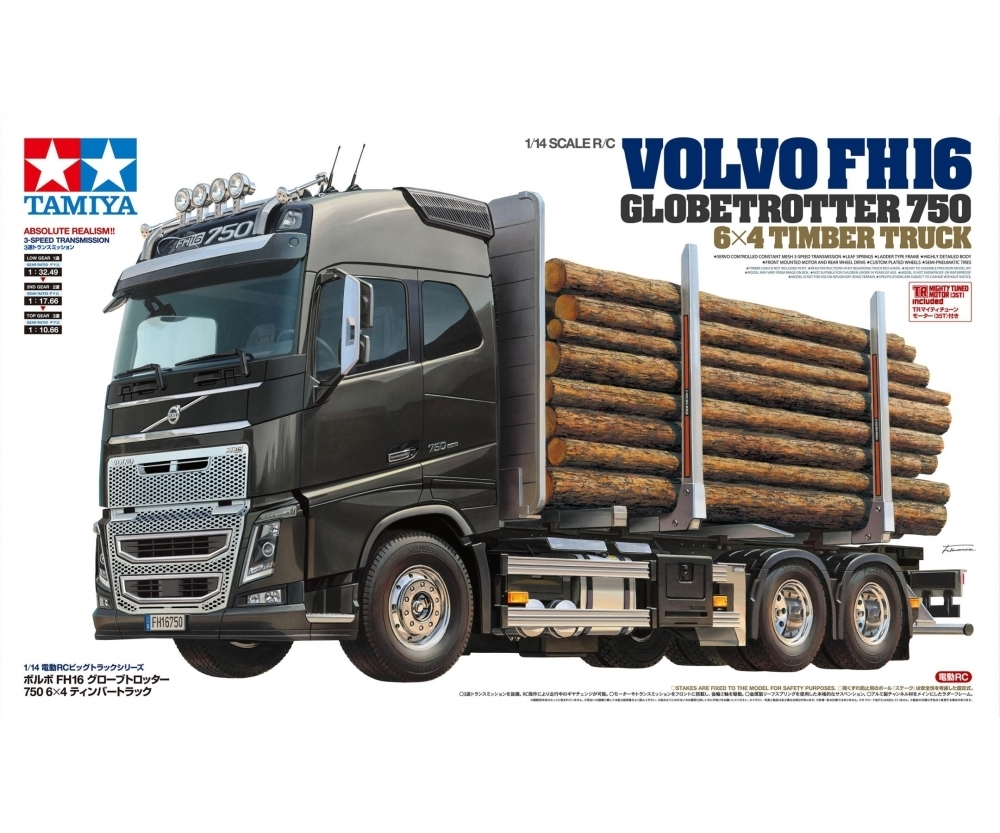 1:14 Volvo FH16 Globetrotter 750 6x4 Timber Truck